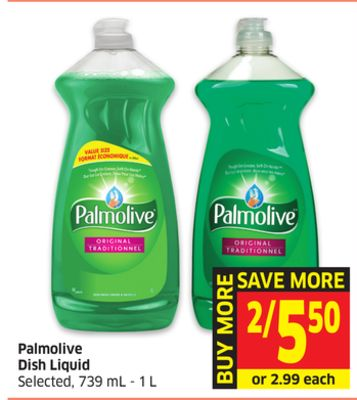 Palmolive Dish Liquid Selected - 739 mL - 1 L