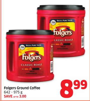 Folgers Ground Coffee 642 - 975 g