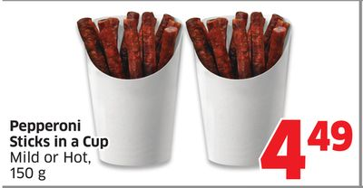 Pepperoni Sticks In A Cup Mild or Hot - 150 g