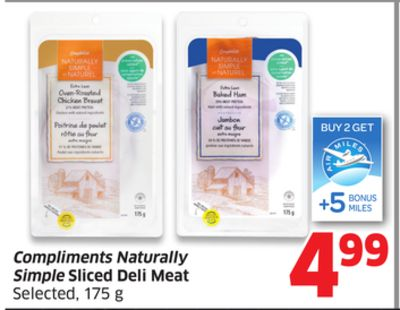 Compliments Naturally Simple Sliced Deli Meat Selected - 175 g