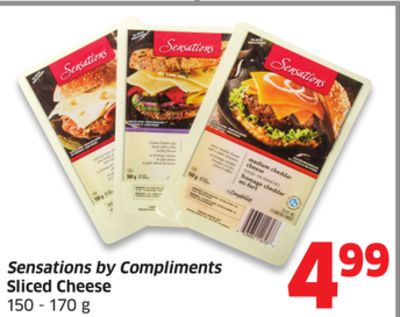 Sensations By Compliments Sliced Cheese 150 - 170 g
