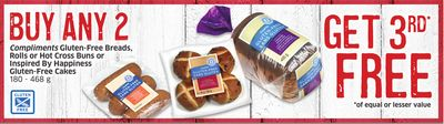 Compliments Gluten-free Breads - Rolls or Hot Cross Buns or Inspired By Happiness Gluten-free Cakes 180 - 468 g