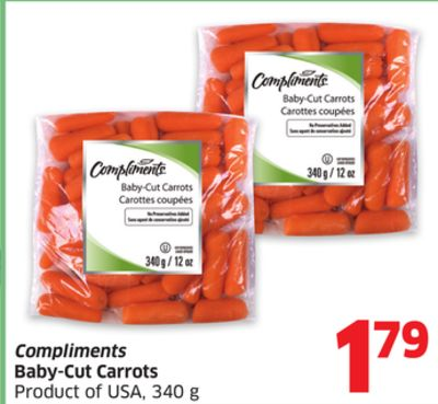Compliments Baby-cut Carrots Product of USA - 340 g