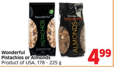 Wonderful Pistachios or Almonds Product of USA - 178 - 225 g