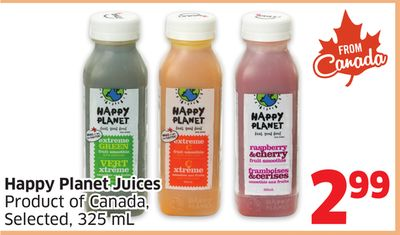 Happy Planet Juices Product of Canada - Selected - 325 mL