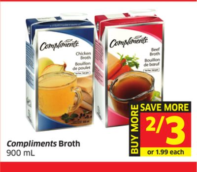 Compliments Broth 900 mL