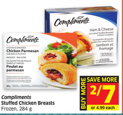 Compliments Stuffed Chicken Breasts Frozen - 284 g