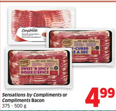 Sensations By Compliments or Compliments Bacon 375 - 500 g