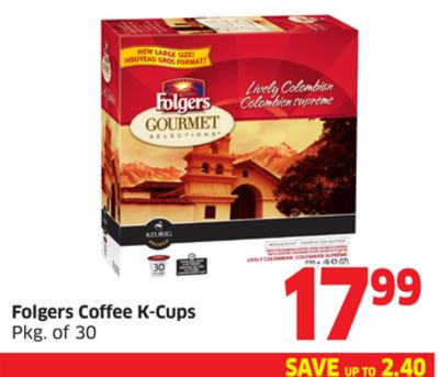 Folgers Coffee K-cups Pkg of 30