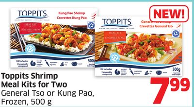 Toppits Shrimp Meal Kits For Two General Tso or Kung Pao - Frozen - 500 g