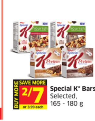 Special K Bars Selected - 165 - 180 g
