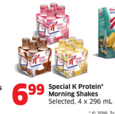 Special K Protein Morning Shakes Selected - 4 X 296 mL