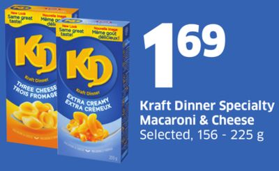 Kraft Dinner Specialty Macaroni & Cheese Selected - 156 - 225 g