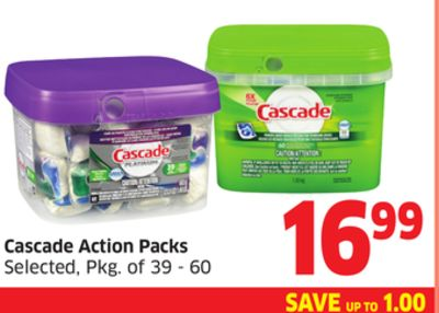 Cascade Action Packs Selected - Pkg of 39 - 60
