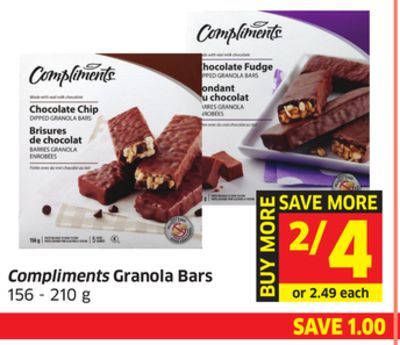 Compliments Granola Bars 156 - 210 g