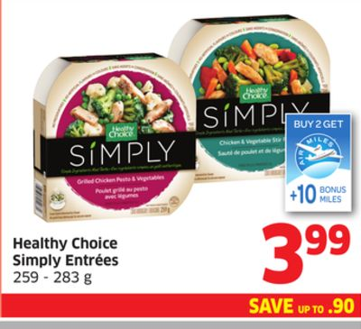 Healthy Choice Simply Entrées 259 - 283 g