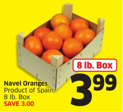 Navel Oranges Product of Spain - 8 Lb. Box