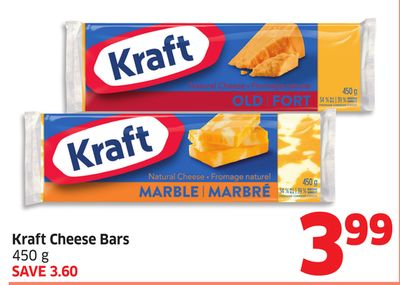 Kraft Cheese Bars 450 g