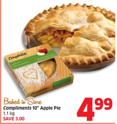 Compliments 10'' Apple Pie 1.1 Kg