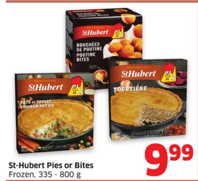 St-hubert Pies or Bites Frozen - 335 - 800 g