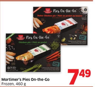 Mortimer's Pies On-the-go Frozen - 460 g