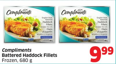 Compliments Battered Haddock Fillets Frozen - 680 g