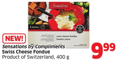 Sensations By Compliments Swiss Cheese Fondue Product of Switzerland - 400 g
