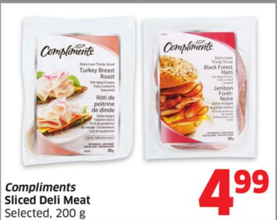 Compliments Sliced Deli Meat Selected - 200 g