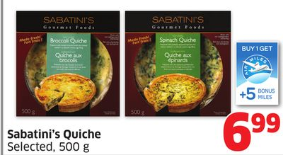 Sabatini's Quiche Selected - 500 g