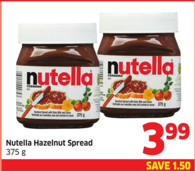 Nutella Hazelnut Spread 375 g