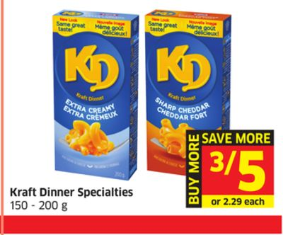 Kraft Dinner Specialties 150 - 200 g