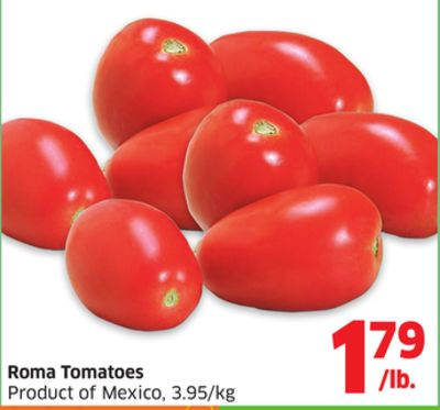 Roma Tomatoes Product of Mexico - 3.95/kg