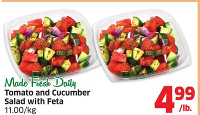 Tomato and Cucumber Salad With Feta 11.00/kg