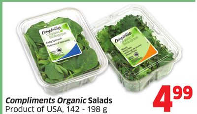 Compliments Organic Salads Product of USA - 142 - 198 g