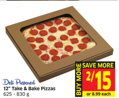 12'' Take & Bake Pizzas 625 - 830 g
