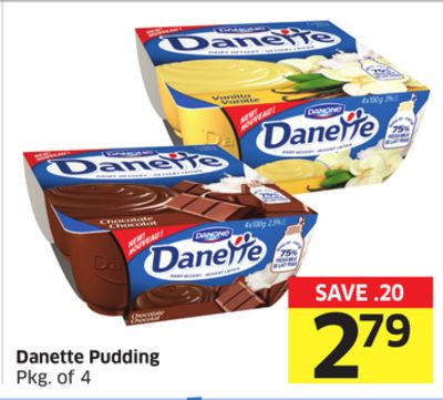 Danette Pudding Pkg of 4