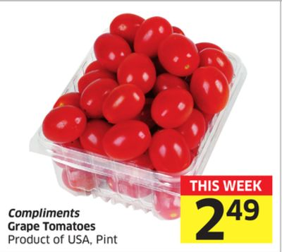 Compliments Grape Tomatoes - Product of USA - Pint