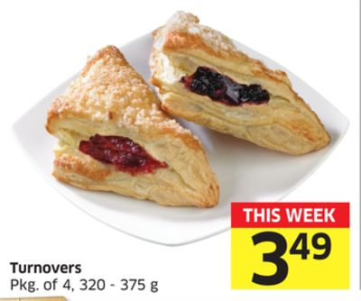 Turnovers Pkg of 4 - 320 - 375 g