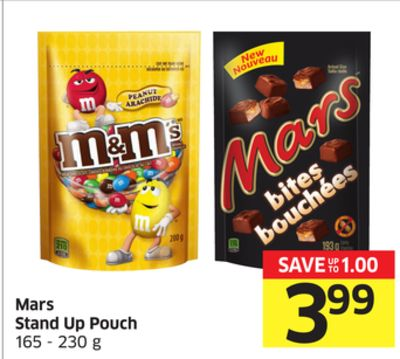 Mars Stand Up Pouch 165 - 230 g