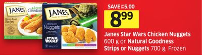 Janes Star Wars Chicken Nuggets 600 g or Natural Goodness Strips or Nuggets 700 g - Frozen