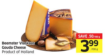 Beemster Vlaskaas Gouda Cheese Product of Holland