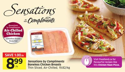 Sensations By Compliments Boneless Chicken Breasts Thin Sliced - Air-chilled - 19.82/kg