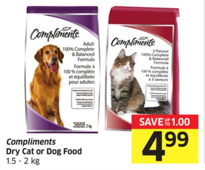 Compliments Dry Cat or Dog Food 1.5 - 2 Kg