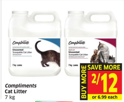 Compliments Cat Litter 7 Kg