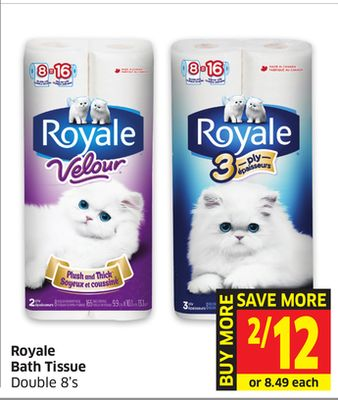 Royale Bath Tissue Double 8's