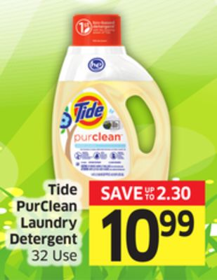 Tide Purclean Laundry Detergent 32 Use