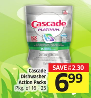 Cascade Dishwasher Action Packs Pkg of 16 - 25