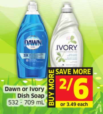 Dawn or Ivory Dish Soap 532 - 709 mL