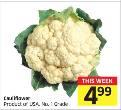 Cauliflower Product of USA - No. 1 Grade