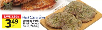 Breaded Pork Sirloin Cutlets Fresh - 7.69/kg